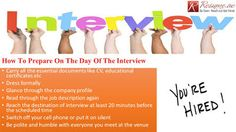 Resume.ae: How to Prepare for Interviewfollow us at http://r...