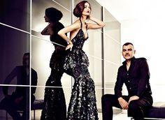 Vestido Roberto Cavalli, maquillaje y peluquería Bea Matallana