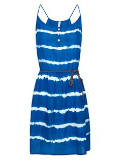 Summer dress! We love the tie-dye look. Pair this outfit with sandals and it's perfect for a picnic or backyard bbq. Just be sure to wear a strapless bra with this dress.