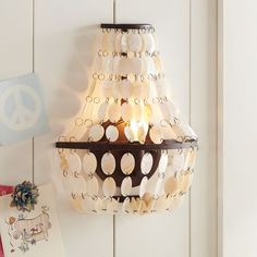 Shell Swag Sconce | PBteen- a pair would be terrific in an entry or bathroom