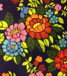 Outdoor Fabric-Oversize Floral Navy