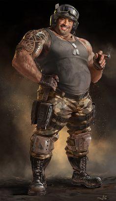 The Tank Driver, john staub on ArtStation at https://www.artstation.com/artwork/the-tank-driver