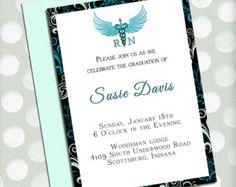 Registered Nurse Graduation Party Invitations- RN- Graduation Party- Deposit Listing