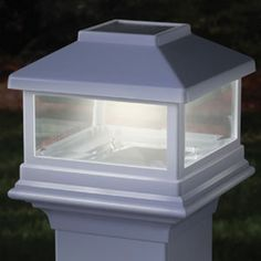 deckorators white solar post cap for aluminum railing system