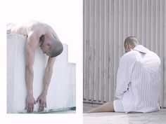 Francesco Cuizza at First Model London photographed by Paul Peter and styled by Gilbert Braun with pieces from J.W. Anderson, Sunspel, Craig Green, Pedro Mantua and Issey Miyake, in exclusive for Fucking Young! Online.