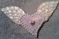 etsy.com/shop/Heart2HeartMosaics ~ A whole lota love goes into every mosaic I create ♥   Angel Heart Mosaic   Mosaic Angel Heart  