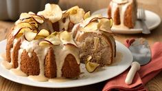 Chopped apples give texture and flavor to this easy one-bowl cake. The simple butterscotch glaze topping takes the flavor over the top!