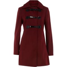 Berry swing coat ❤ liked on Polyvore