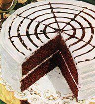 Devil's food whirligig cake (1950) - Click Americana