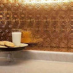Show details for Fasade Backsplash - Lotus in Polished Copper
