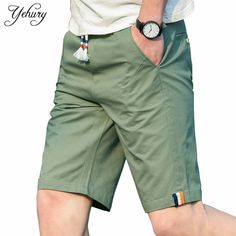 2f555d1a7d1 2017 New Summer Shorts Men Cotton Solid Breathable Comfort Knee-length  Loose Casual Short