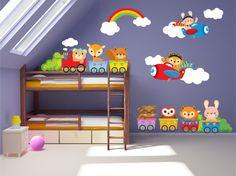 Kids Bedroom Wall Decals  Nursery Wall Decals  by YendoPrint