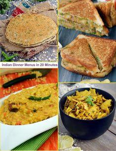 Indian Dinner Menus in 20 minutes, Veg | Page 1 of 1