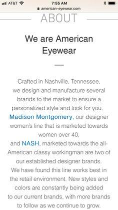 American Eyewear, Madison Montgomery, Personal Style, Design