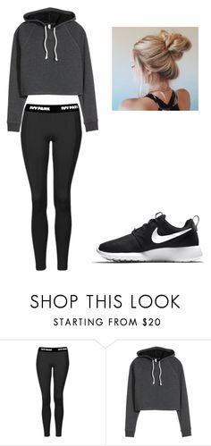 """""""Winter Workout"""" by okcaitlyn on Polyvore featuring Topshop and NIKE"""