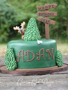 Hunting cake take Beautiful Cakes, Amazing Cakes, Fondant Cakes, Cupcake Cakes, Hunting Birthday Cakes, Camo Birthday, Fall Cakes, Incredible Edibles, Banana Recipes