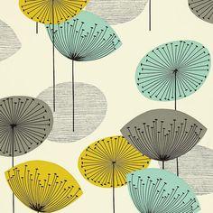 Buy Sanderson DOPWDA104 Dandelion Clocks Wallpaper | Options 10 | Fashion Interiors