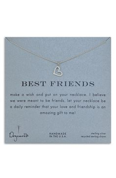 Dogeared 'Best Friends' Open Heart Necklace | Nordstrom