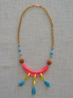 Funkify your wardrobe with this little number Balboa Jewelry  Neon Tier Necklace