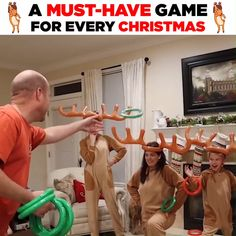 Inflatable Reindeer Party Game Hurry, before it is gone! Description: Perfect for Christmas, Pool or Birthday Parties - Increase the fun with this cool Inflatable Reindeer Party Game Set. Fun Christmas Party Games, Xmas Games, Christmas Games For Family, Holiday Games, Xmas Party, Family Games, Kids Christmas, Christmas Decorations, Birthday Parties