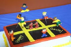 Trampoline cake -- but with legs on the bottom, so it actually looks like a trampoline!