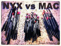 The most comprehensive comparison/dupes between MAC and NYX lip liners. She not… The most comprehensive comparison/dupes between MAC and NYX lip liners. She not only covers the shades, but the ingredients as well. All Things Beauty, Beauty Make Up, Hair Beauty, Nyx Lip Pencil, Hd Make Up, Mac Lip Liner, Mac Lips, Make Up Dupes, I Love Makeup