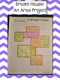 This activity allows the students to be creative and also shows how to calculate area.  They can make their house as big or little as the want, as long as the can find the area of the house when its finished.