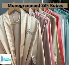 Etsy Rose Gold Bridesmaid Satin Robes, Bridal Party Robes, Monogram Robes, Silk Kimono Robes, Embroider R Rose Gold Bridesmaid, Bridesmaid Robes, Bridesmaid Proposal, Blush Champagne Wedding, Gold Champagne, Champagne Flutes, Silk Kimono Robe, Bridal Party Robes, Kimono Fashion