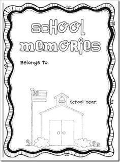 End of school year memory book to print and fill out at the end of each school year. End Of School Year, Beginning Of School, School Holidays, School Fun, School Ideas, Spring School, School Parties, Pre School, School Stuff