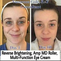 """Give R+F a try for 60 days, if you dont see results, send back the empty bottles, receive a FULL refund!! It's that easy! """"60 days ago I began a new skincare regimen and a new side gig and it has already blessed me in so many ways. The confidence I've gained by being able to go concealer free after years and years of suffering from dark circles and uneven skin tone has truly changed my life."""" You can start your transformation today!  Contact me !! #greatskin #lovethenewme #lovethenewyou…"""