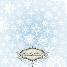 Light Blue Snowflakes - Oz Backdrops and Props