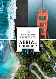 45 Lightroom Presets for Aerial Photography with drones like the DJI Mavic Pro/Air, DJI Spark or the popular DJI Phantom.