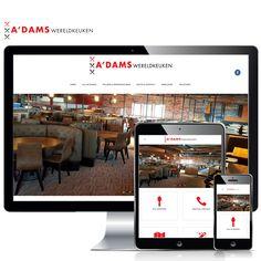 - www.adamswereldkeuken.nl - A'DAMS Wereldkeuken heeft deze maand de deuren geopend in Amsterdam! Je vindt er een grote hoeveelheid wereldse gerechten. Van échte Japanse Sushi tot aan oer Hollandse poffertjes en van een lekker stuk Italiaanse pizza tot aan een heerlijk malse biefstuk van de lava-grill. Weppster verzorgde de website en we gaan er snel een keer eten! Volg ons ook op: Blogspot - http://weppster.blogspot.nl/