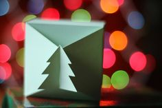 SVG File: Interlocking Christmas Tree Gift Box Template by Essyjae on Etsy