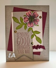 LA Stamper, Stampin' Up!: Flower Shop and Blendabilities.  Visit my blog for a quick video tip about cleaning Bigz dies!