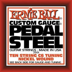 Ernie Ball 2501 Pedal Steel Nickel Wound 10 String C6 Tunning By
