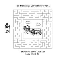Sunday School Coloring Pages The Prodigal Son
