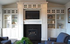 Built in entertainment center and fireplace. Doing something similar to this in entertainment room.