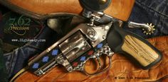 Ruger SP101 Southwest revolver with DuraCoat and jeweling.