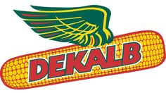 The DeKalb ag logo, flying ear of corn. This logo is recognized not only around Northern Illinois, but all over the world