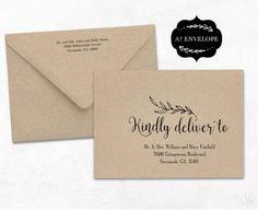 Printable Wedding Envelope Template  Instant Download  Script