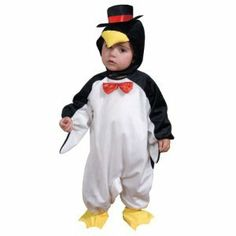 Cute Little Penguin Children's Costume Size: Small by Dress Up America. $22.50. 500-S Size: Small Features: -Cute little penguin costume.-Material: Polyester.-Comes complete with bubble outfit, booties and matching hat. Options: -Available in toddler T2, toddler T4 and small 4-6 sizes.