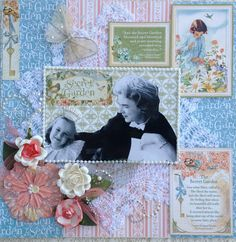 Layout using Graphic 45's Secret Garden by Cheryl Kearns