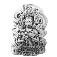 Beautiful Cute Sexy Body Art Beauty Makeup Cool Buddha Waterproof Temporary Tattoo Stickers For Unisex1912cm * Additional info @