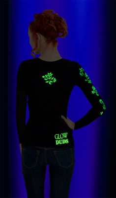 GLOWING hand painted T-Shirt!