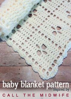 Call the Midwife Inspired Vintage Baby Blanket - Free Crochet Pattern by Little Monkeys Crochet
