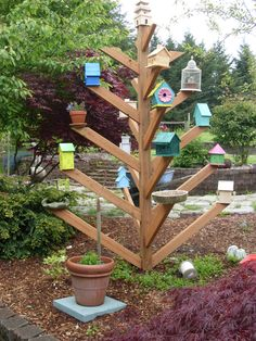 A birdhouse tree...