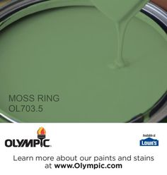 MOSS RING OL703.5 is a part of the greens collection by Olympic® Paint.