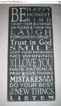 ON SALE Family Rules To Grow With Distressed by CottageSignShoppe, $68.00