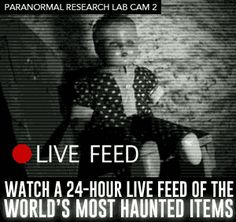 Watch the Traveling Museum of the Paranormal & Occult's LIVE research camera!